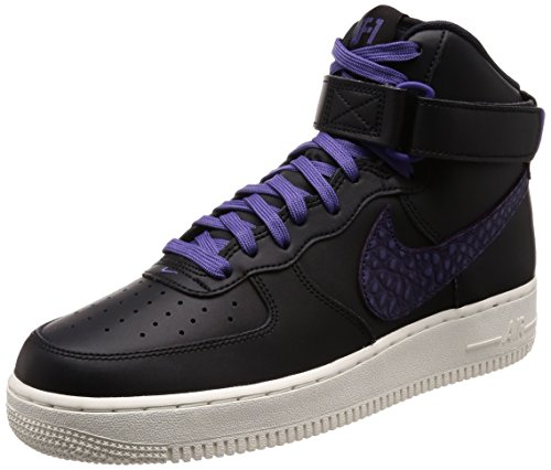 NIKE Ladies Indy Racerback Reggipetto Lungo Donna Black/Court Purple-sail