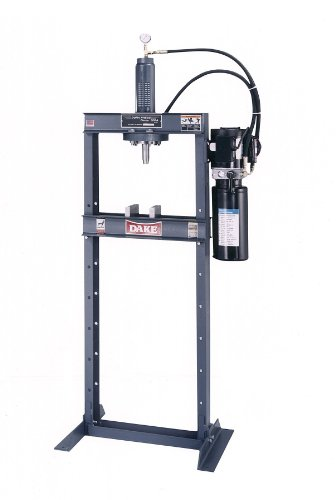 Dake Force 10DA Model Electrically Operated Hydraulic Dura Press, 10 Ton Capacity, 110V, 1 Phase, 29.75'' Length x 24'' Width x 80'' Height by Dake