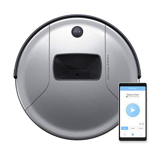 bObsweep PetHair Vision Wi-Fi Connected Robotic Vacuum Cleaner - Steel