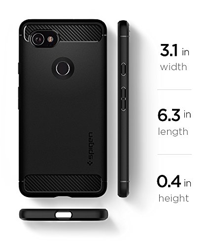 Spigen Rugged Armor Google Pixel 2 XL Case with Resilient Shock Absorption and Carbon Fiber Design for Google Pixel 2 XL (2017) - Black by Spigen (Image #9)
