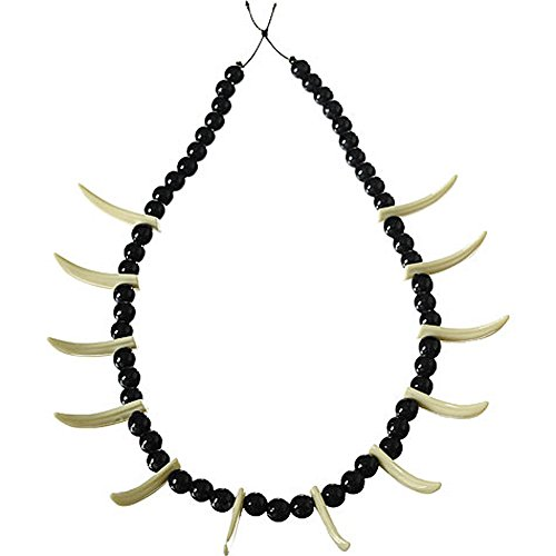 Stone Age Teeth Necklace Costume (Tiger Hunter Costume)