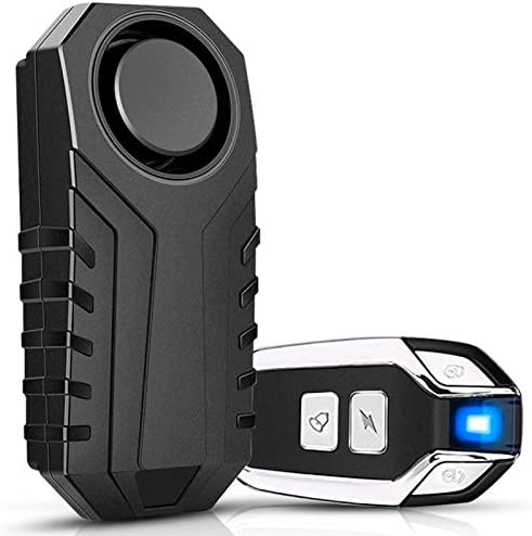 113dB Wireless Motorcycle Bicycle Anti-Theft Alarm Vibration Remote Control C8L6