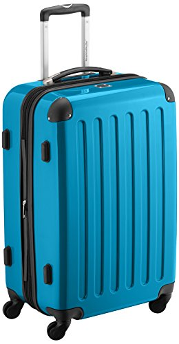 Amazon.com: HAUPTSTADTKOFFER · Luggage · 87 liters (63 x 42 x 28 cm) · hardshell case · combination lock · Glossy Color (Cyan Blue): Clothing