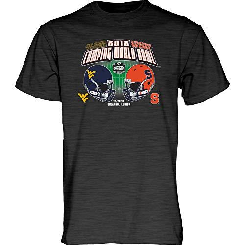 Elite Fan Shop WVU vs Syracuse Camping World Bowl Tshirt 2018 Charcoal - M (Cotton Bowl Syracuse)