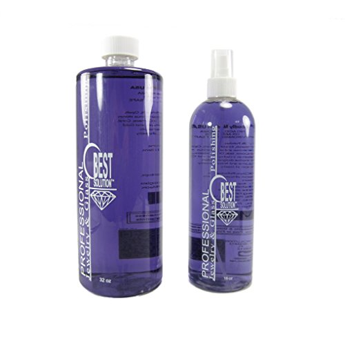Best Solution Silver Gold Diamonds Costume Jewelry Cleaner 32oz Bottle with 16oz Spray Bottle (Precious Liquid Jewelry Cleaner 16 Oz Bottle)