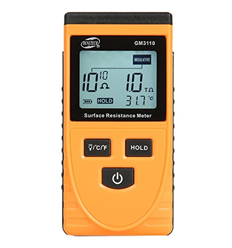 (High-Precision LCD Surface Resistance Tester Anti-Static Tester Digital Resistance Meter Ambient Temperature Meter)