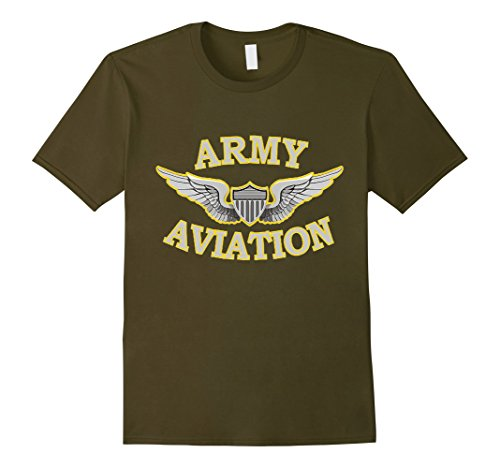 Olive Helicopter (Mens Army Aviation, Military, Helicopter or fixed wing t-shirt!! XL Olive)