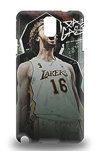 Premium Tpu NBA L.A. Lakers Pau Gasol #16 Cover Skin For Galaxy Note 3 ( Custom Picture iPhone 6, iPhone 6 PLUS, iPhone 5, iPhone 5S, iPhone 5C, iPhone 4, iPhone 4S,Galaxy S6,Galaxy S5,Galaxy S4,Galaxy S3,Note 3,iPad Mini-Mini 2,iPad Air )