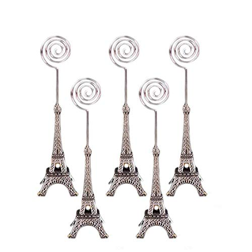 Dproptel Unique Eiffel Tower Style Card Holder Memo