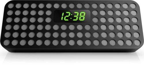 Philips Bluetooth Wireless Speaker with Clock Display (Black)