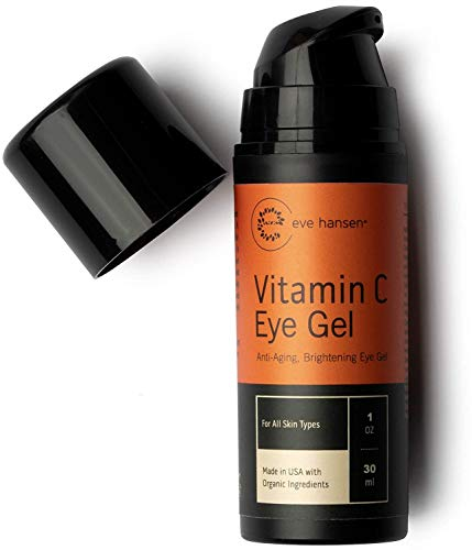 Eve Hansen Vitamin C Eye Gel | Reduce Age Spots, Dark Circles and Eye Puffiness With Our Vitamin C Eye Cream | Anti-Aging Wrinkle Filler, Eye Bags Treatment, and Dark Spot Corrector | 1oz
