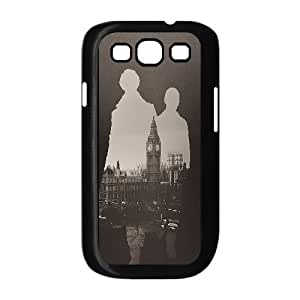 Samsung Galaxy S3 Case, Protective Cute Silhouette Sherlock London Case For Samsung Galaxy S3 {Black}