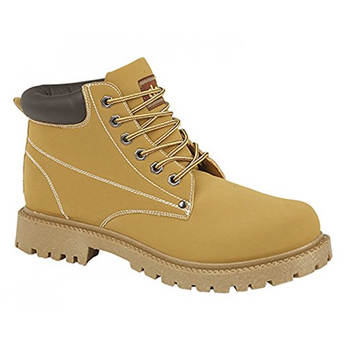 Collar Padded Boot 6 Eye (Dek Mens Oasis 6 Eye Padded Collar Boots (10 US) (Honey))
