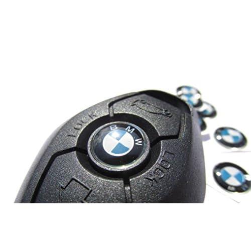 2* * * * * * * * Nouvelle BMW Aluminium 11mm Badges Porte-clés emblème Sticker Autocollant Logo BMW high-quality