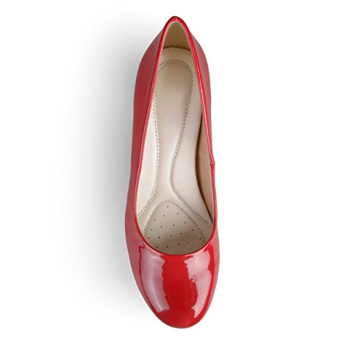 Fit Classic Pumps Womens Journee Patent Journee Collection Collection Red Comfort wpUFROAq