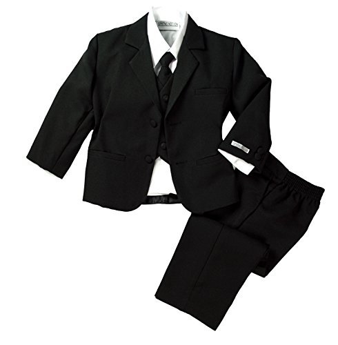 (Spring Notion Baby Boys' Formal Black Dress Suit Set 12M (Medium))