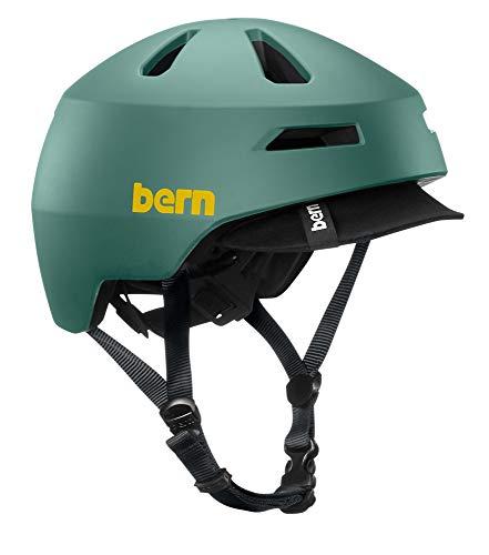BERN - Brentwood 2.0 Helmet, Matte Slate Green w/Visor, Large (Bern Bike Helmets)