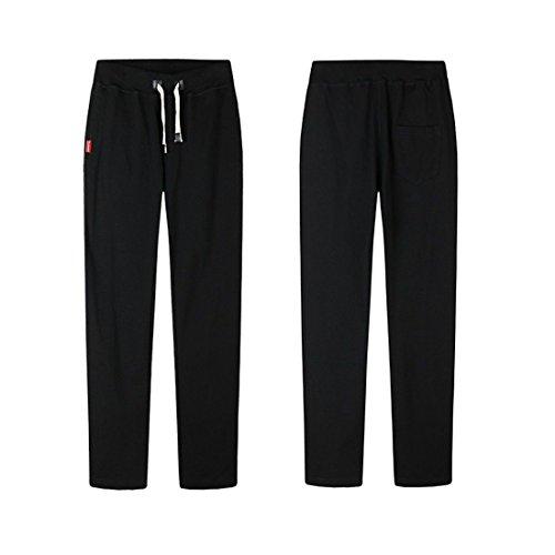 Pantalones Recta Deportivos Hombres Los Hombres Gran Grasa tamaño Negro Stazsx Sueltan los Sueltan de de gordos los la los Grandes Pantalones de Pantalones Ocasionales YCPwtq
