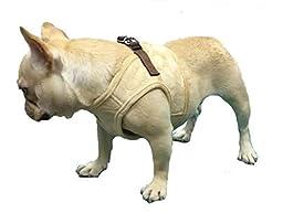 Lanyar Houndstooth Fleece Padded Winter Harness Vest for Pets, Medium: Neck 11\