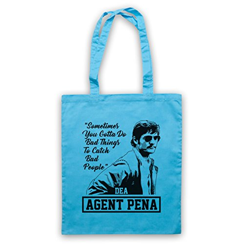 Narcos Agent Pena Do Bad Things To Catch Bad People Bolso Azul Cielo