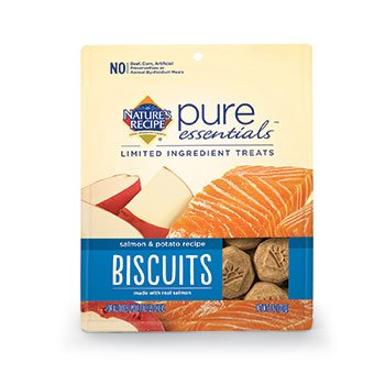 Nature's Recipe Pure Essentials Biscuits - Salmon & Potato - Regular - 8oz