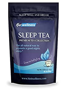 Sleep Tea - Natural Sleep Aid With Valerian Root and Chamomile - Herbal Sleep Aid Tea By Hint Wellness - 18 Tea Bags - 45 g