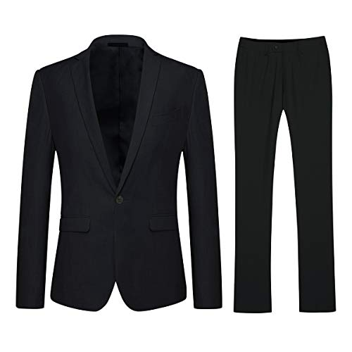 YFFUSHI Mens One Button Formal 2 Piece