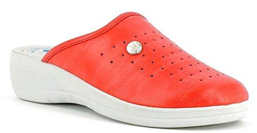 INBLU - Zapatillas de estar por casa para mujer rojo rojo 41