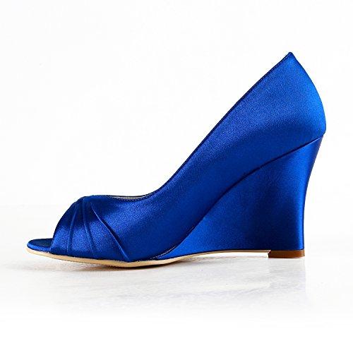 Minitoo Escarpins pour Femme - Bleu - Blue-8cm Heel, 38