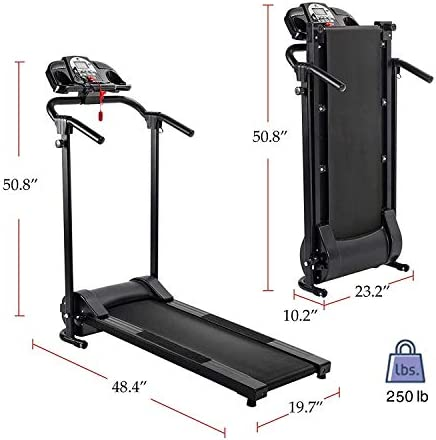 ZELUS Folding Treadmill for Home Gym, Portable Wheels, 750W Electric Foldable Running Cardio Machine with Cup Holder, Sports App Walking/Runners Exercise Equipment 3