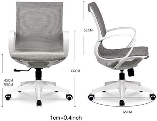 AJMINI kontorsstol med armar roterande lyft arbetsstol, med konturerad nätstol, lämplig för datorarbete och möte och receptionsplats skrivbordsstol