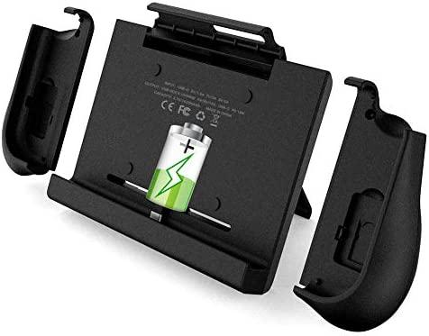 BigBlue 10000mAh Cargador de Baterías para Nintendo Switch, Batería Portátil con Empuñaduras para Joy-Con, Cargador Recargable con Soporte Ajustable & ...