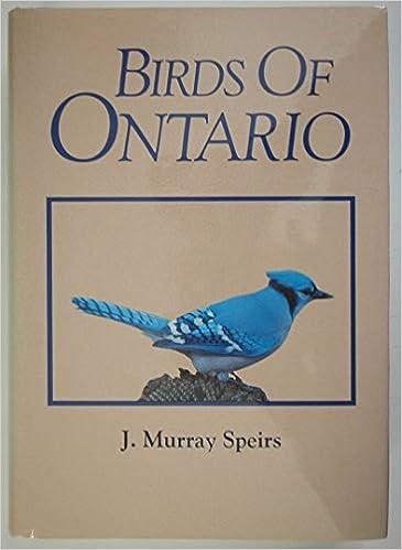Birds of Ontario, Volume 1