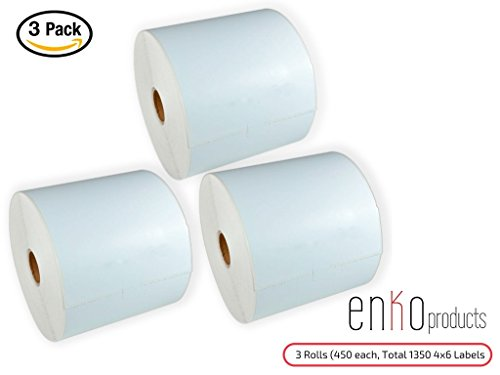 3 Rolls  1350 Labels  4 X 6  Direct Thermal Address   Shipping Labels Ups  Usps  Fedex  4 X 6   Compatible For Zebra 2844 Zp 450 Zp 500 Zp 505  Eltron  Neatoscan