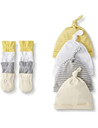 Baby 4-Pack Organic Cotton Cap and Mitten Set