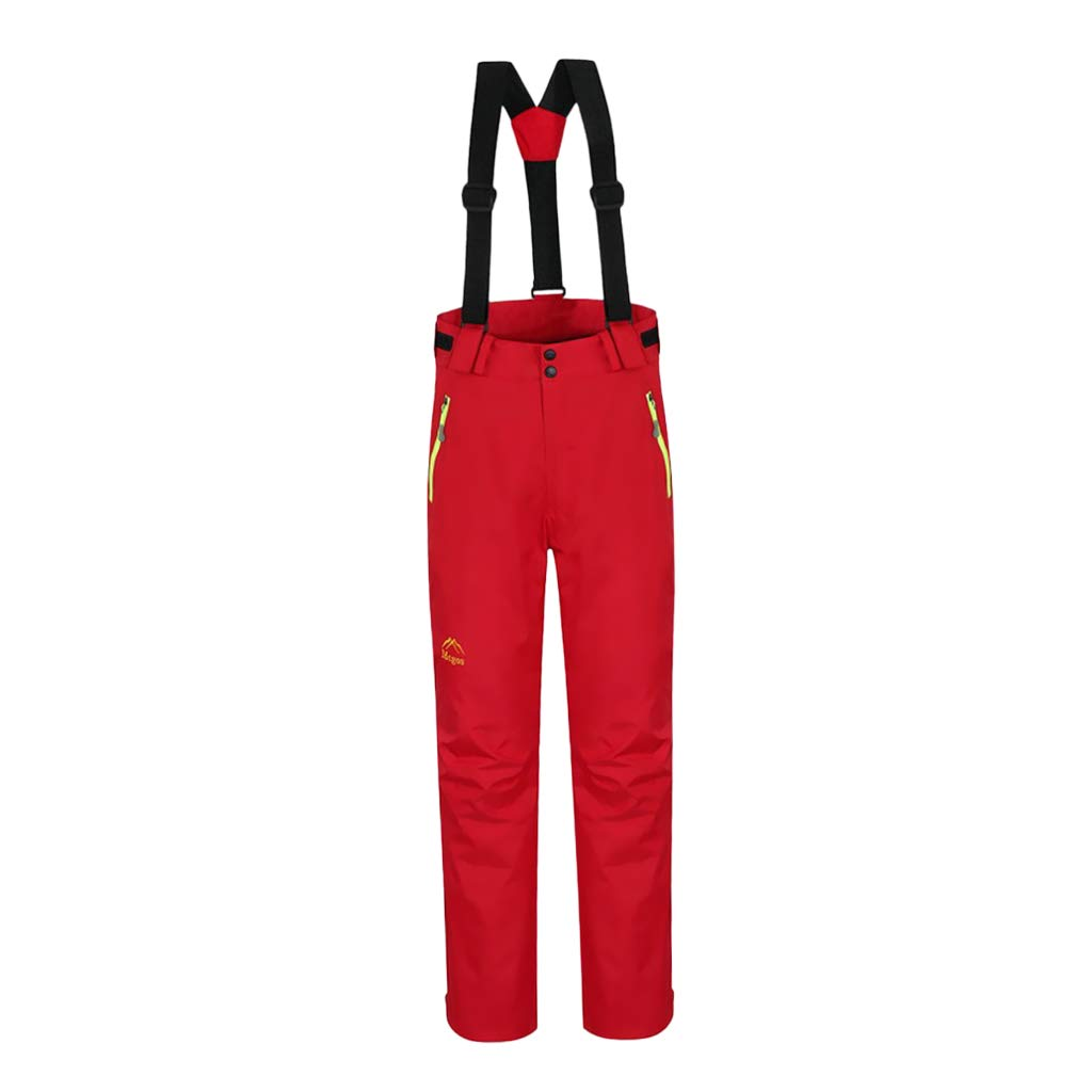 Red SM SunniMix Fashion Women's Outdoor Winter Waterproof Windproof Warm Ski Pants Sizes