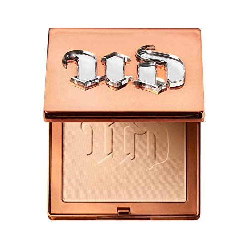 Urban Decay Stay Naked The Fix Powder Foundation, 40NN - Matte Finish Lasts Up To 16 Hours - Water & Sweat-Resistant - Comes with Charcoal-Infused Sponge