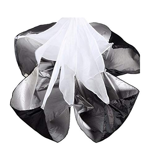 Running Speed Training 56 inch Speed Training Resistance Parachute Umbrella Running Chute & Fitness Explosive Power Training (Black)