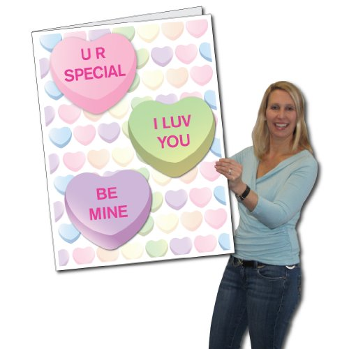 2' x 3' Giant Card, Valentines Day, Hearts - W/ Envelope