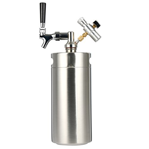 YaeBrew 128 Ounce Homebrew Keg System Kit for Home Brew Beer - with a Cool Bank Beer Dispensor, Cool Bank Mini CO2 Regulator and a Cool Bank 128 Ounce Stainless Steel Keg (3.6L)