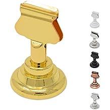 GrayBunny GB-6810B Place Card Holder, 12 pack, Gold, Table Cardholder Tabletop Menu Holder Harp-Clip Number Holder Recipe Holder Reserved Card Holder, For Restaurants, Weddings, Banquets