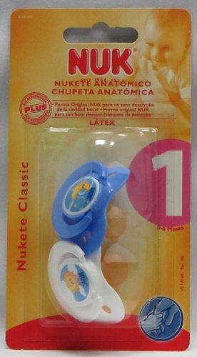 Nuk Chupete T-1 Caucho Noche 2 Azul y Blanco Ud: Amazon.es: Bebé