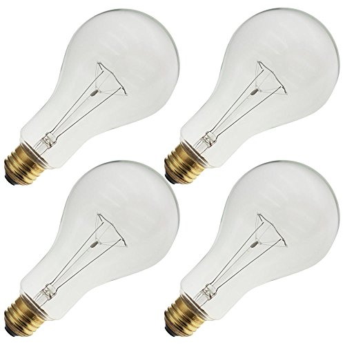 Industrial Performance 200PS25/CL 130V, 200 Watt, PS25, Medium Screw (E26) Base Light Bulb (4 Bulbs)