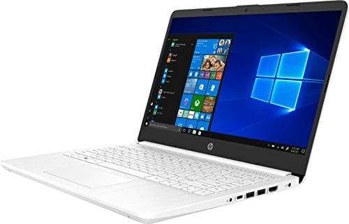 "2020 HP 14"" HD (1366 x 768) Thin and Light Laptop PC, Intel Celeron N4020 Dual-Core Processor, 4GB DDR4 Memory, 64GB eMMC, HDMI, WiFi, Bluetooth, Windows 10 S, 1 Year Microsoft 365, Snowflake White"