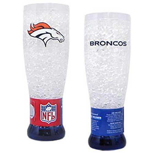 NFL Denver Broncos 16-Ounce Crystal Freezer Pilsner