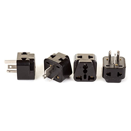 Usa Power Plug - OREI 2 in 1 USA to Australia/China Adapter Plug (Type I) - 4 Pack, Black