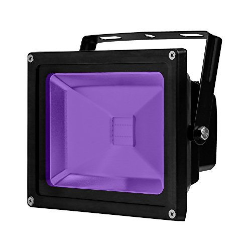 Bracket Outdoor Large (YQL Outdoor LED Blacklight,AC85~265V High Power 20W UV LED Flood Light IP65 Waterproof Black Lights for Parties Neon Glow Party, Glow in The Dark Party Supplies Decorations,Curing)