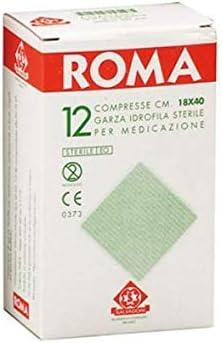 Compresas de gasa hidrofílica estériles desechables para el apósito de puro algodón, 18 x 40 cm, paquete de 12 unidades: Amazon.es: Salud y cuidado personal