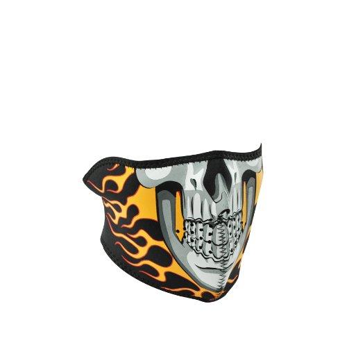 ZANheadgear Neoprene Burning Skull Half Face Mask
