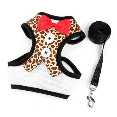 TLMY Dog Leashes Small Dog Teddy Vest-style Bow Evening Dress Chest Strap Pet Chain (color   2, Size   M)